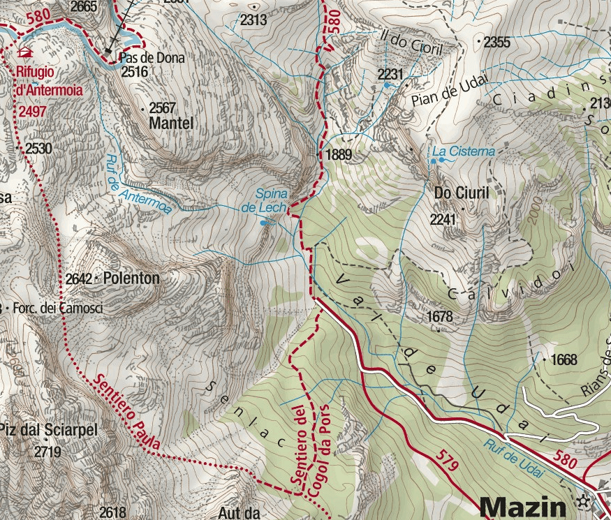 Laurenzi Ferrata Map Detail 1