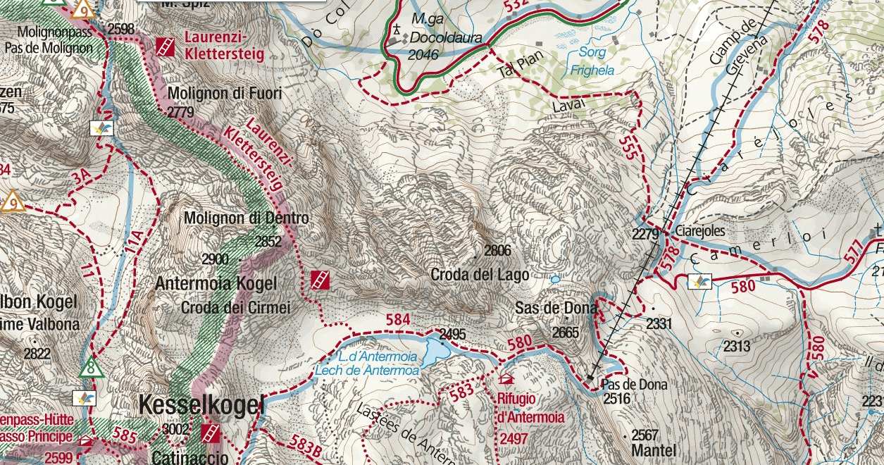 Laurenzi Ferrata Map Detail 2