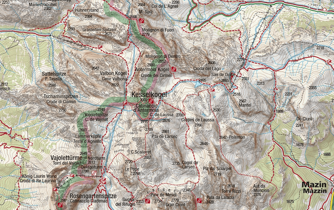 Laurenzi Ferrata Map