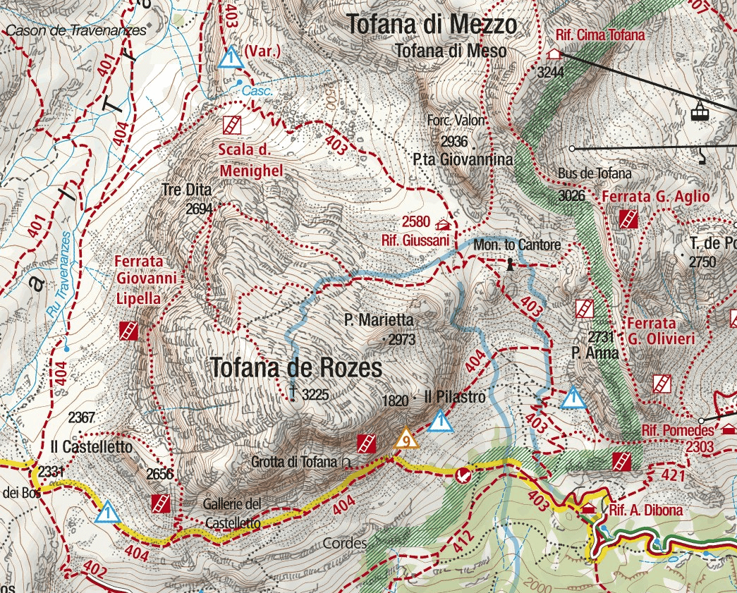Lipella Ferrata Map