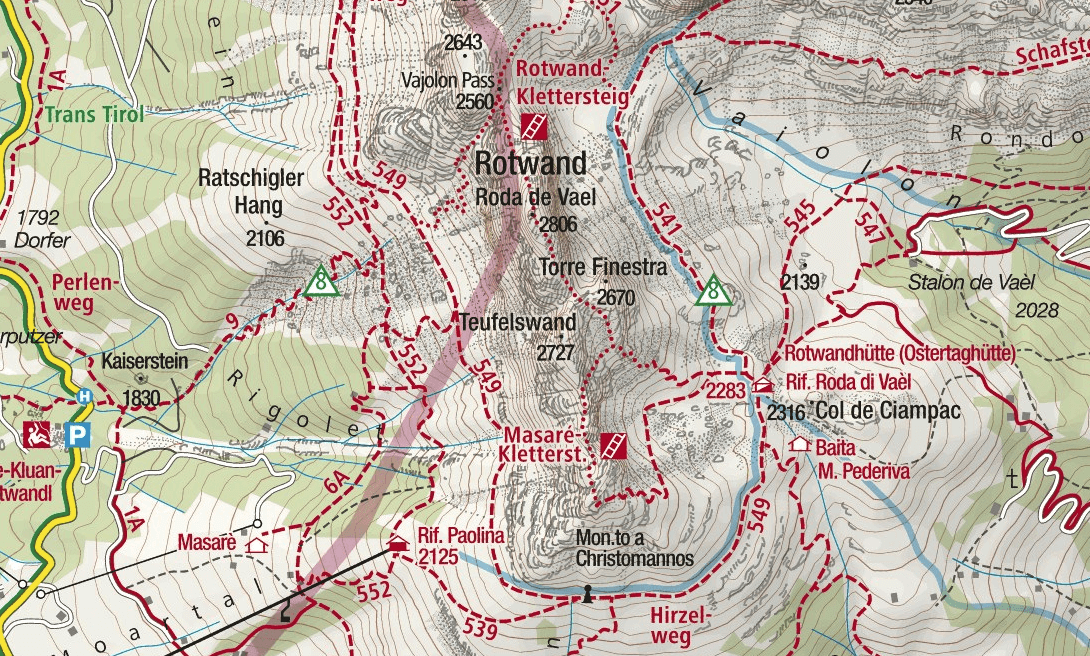 Masare Ferrata Map