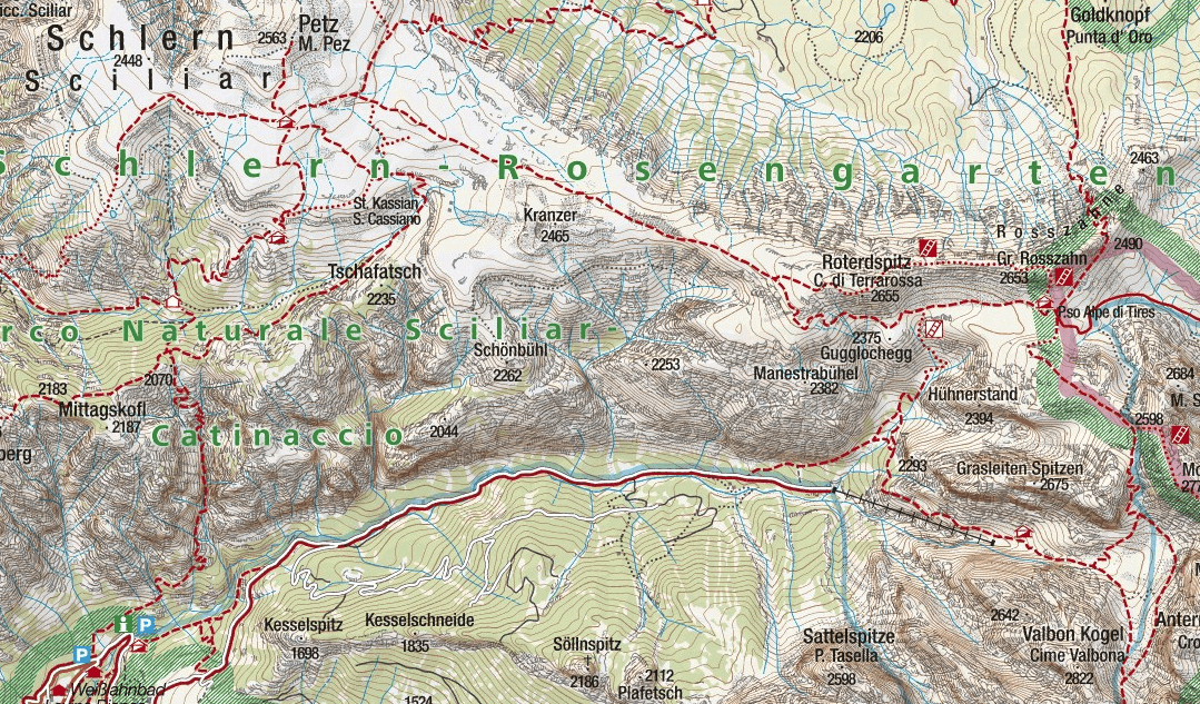 Maxilian Ferrata Map