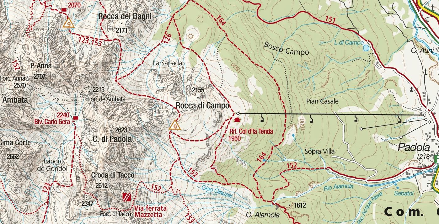 Mazzata Ferrata Map