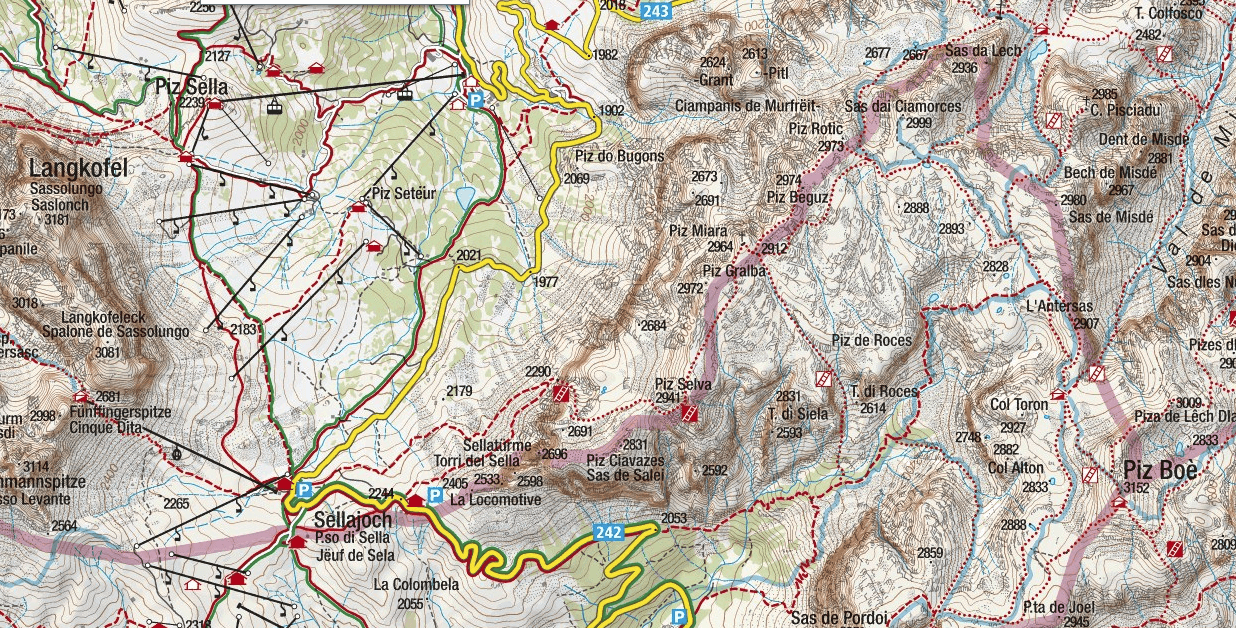 Mesules Ferrata Map