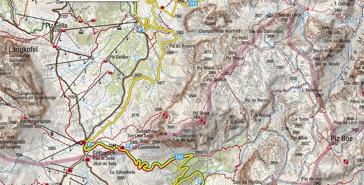 Cartina Ferrata Mesules