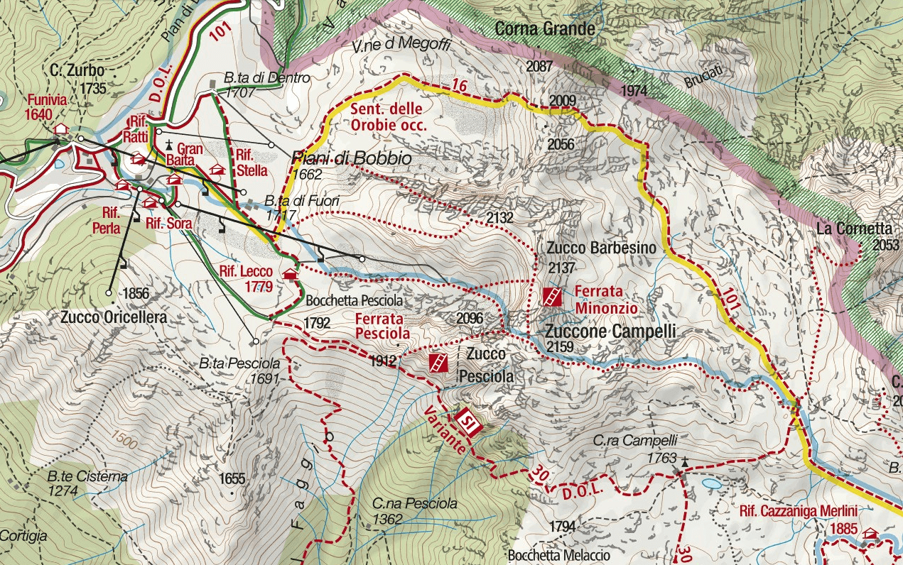 Ferrata Minonzio Map