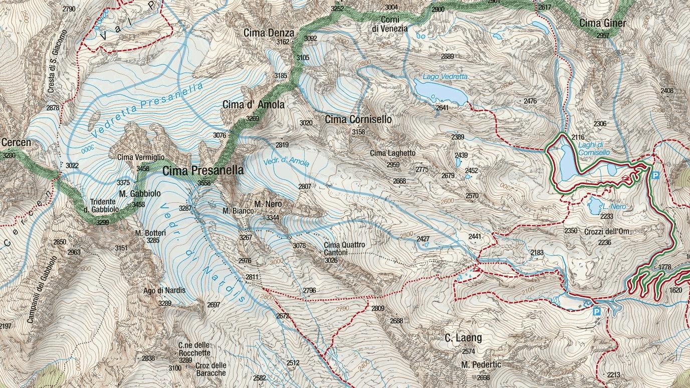 Monte Nero Ferrata Map