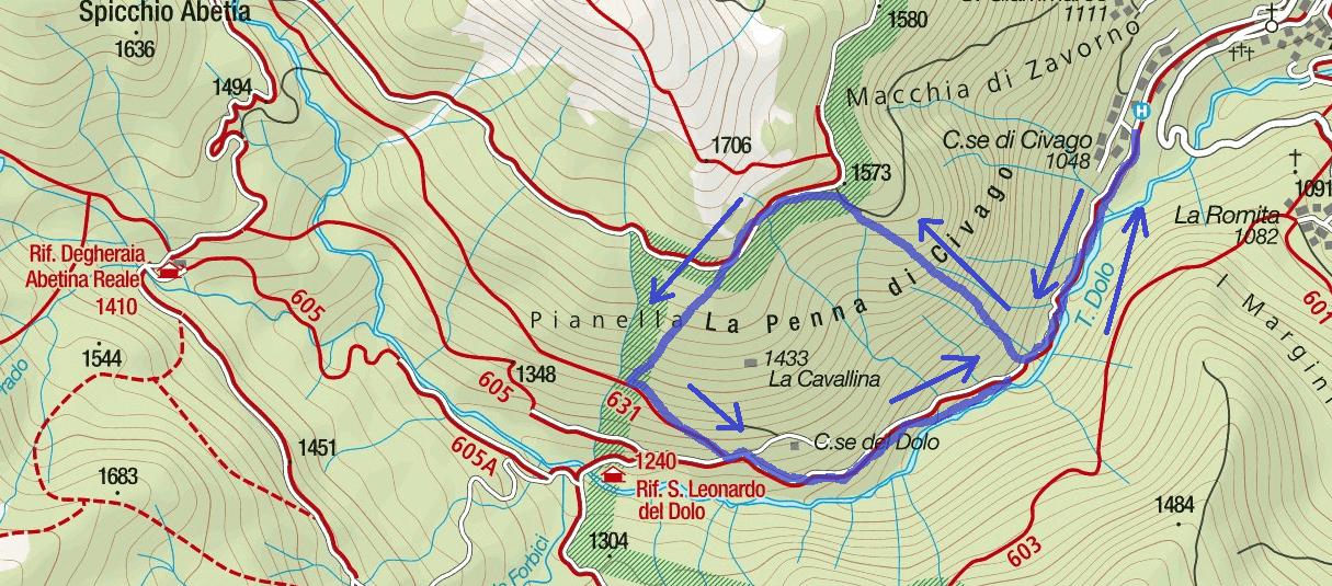 Monte Penna Ferrata Map 1