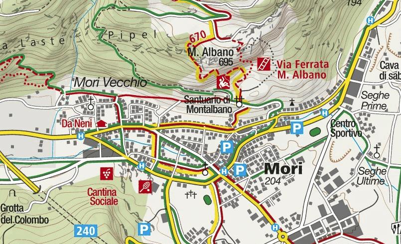 Mori Marangoni Ferrata Map