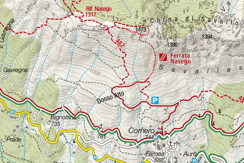 Cartina Ferrata Nasego