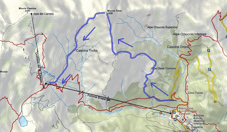 Cartina Ferrata Nito Staich Itinerario 1