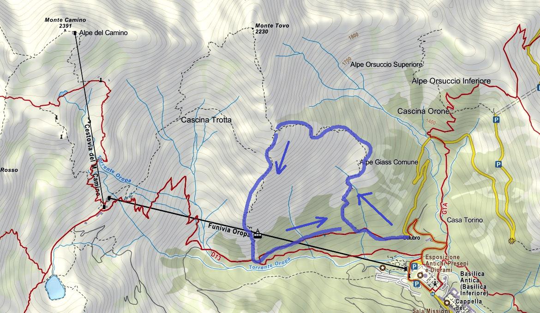 Cartina Ferrata Nito Staich Itinerario 2