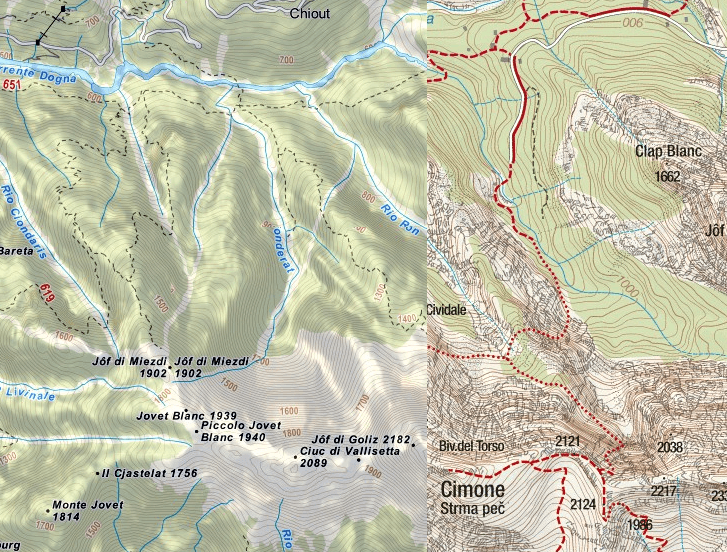 Norina Ferrata Map