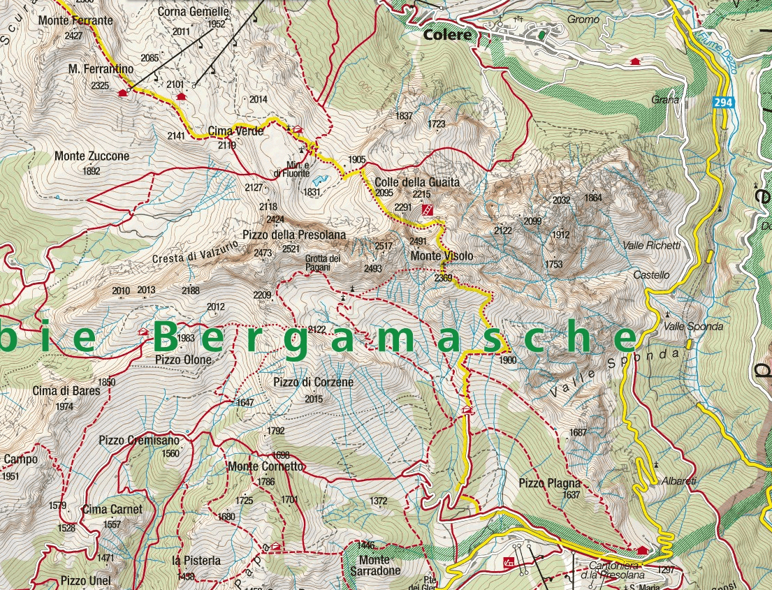 High Level Porta Ferrata Map
