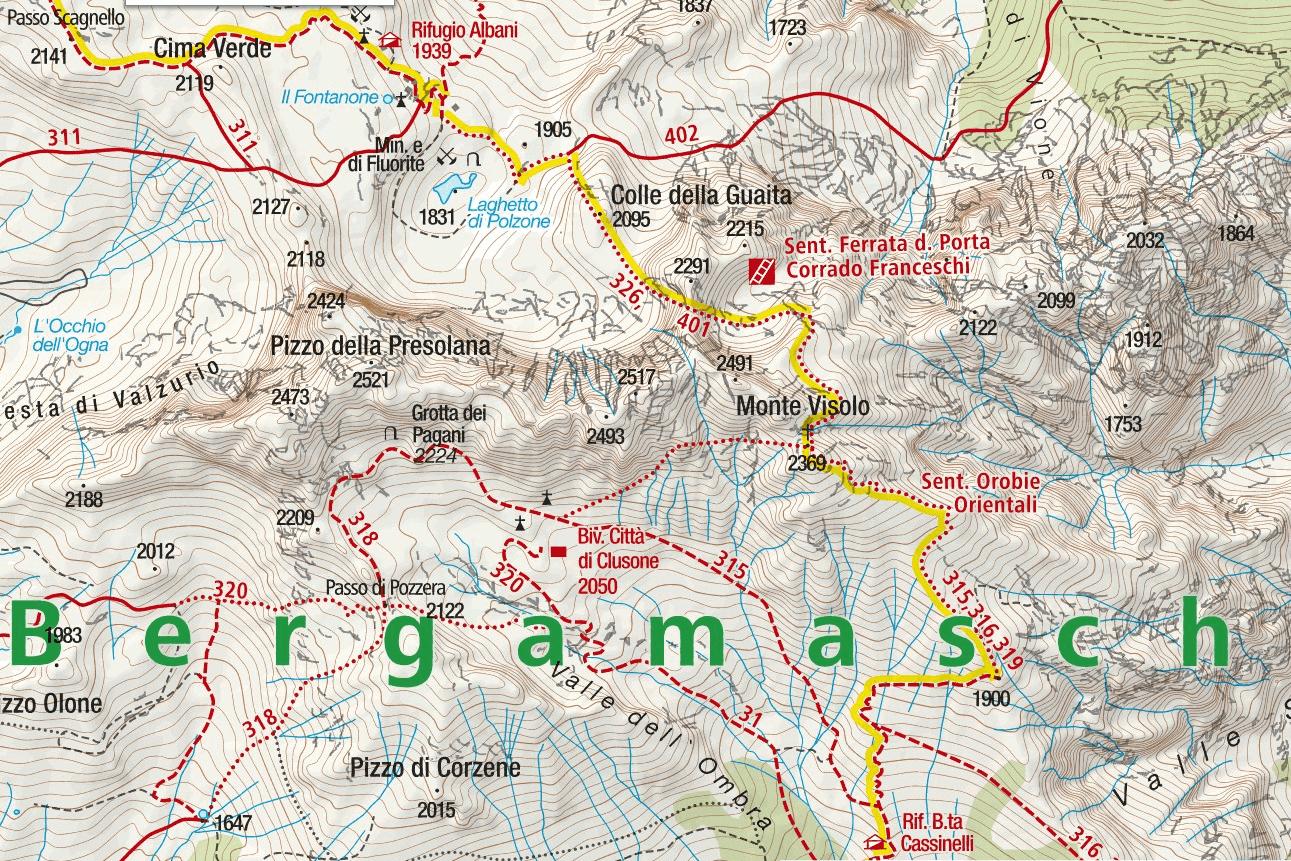 Passo della Porta Ferrata Map