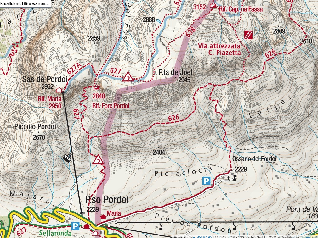 Piazzetta Ferrata map