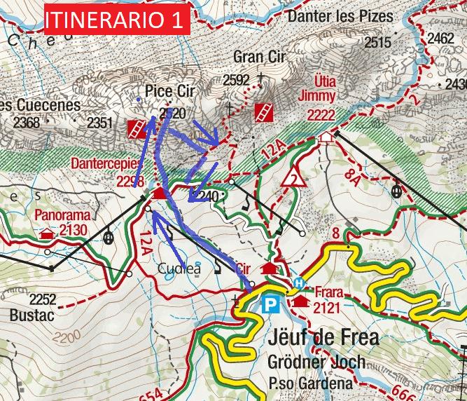 Cartina Ferrata Piccolo Cir Itinerario 1 Dettaglio