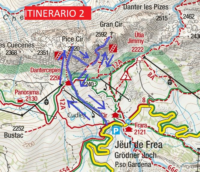 Cartina Ferrata Piccolo Cir Itinerario 2 Dettaglio