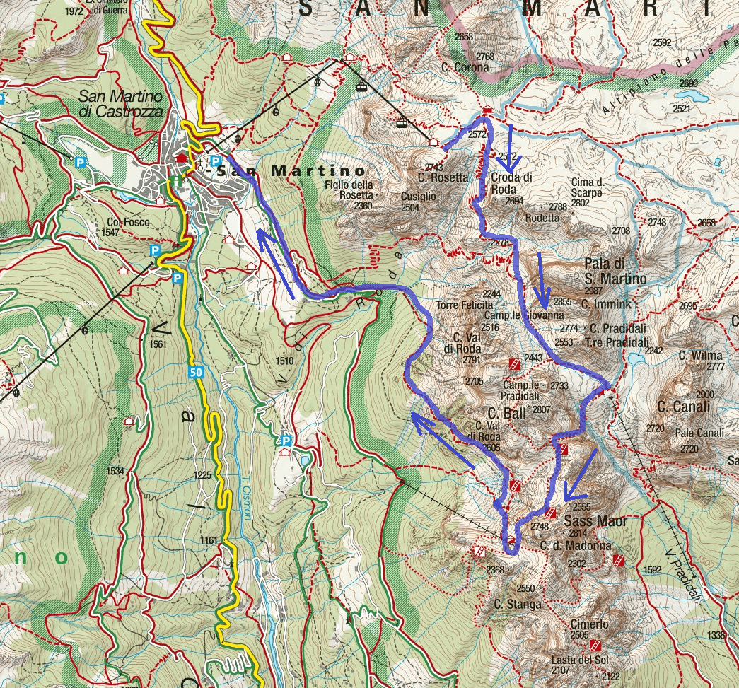 Porton Velo Route Ferrata Map
