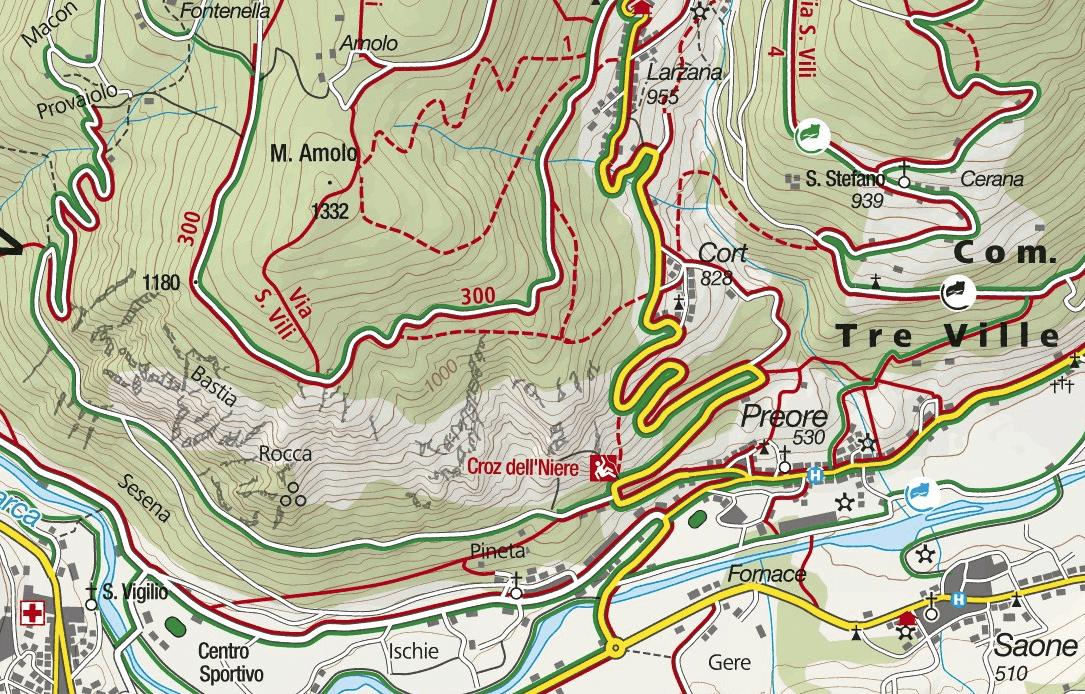 Preore Artpinistico Ferrata map