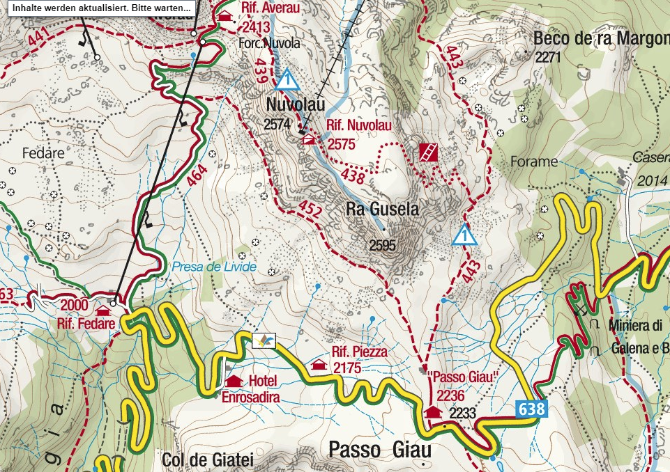 Ferrata Ra Gusela map