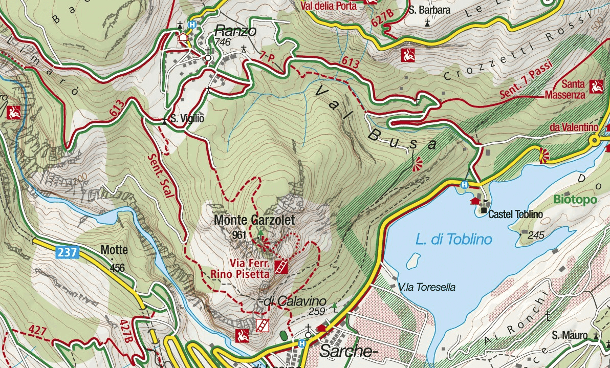 Rino Pisetta Ferrata Map