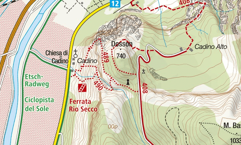 Cartina Ferrata Rio Secco