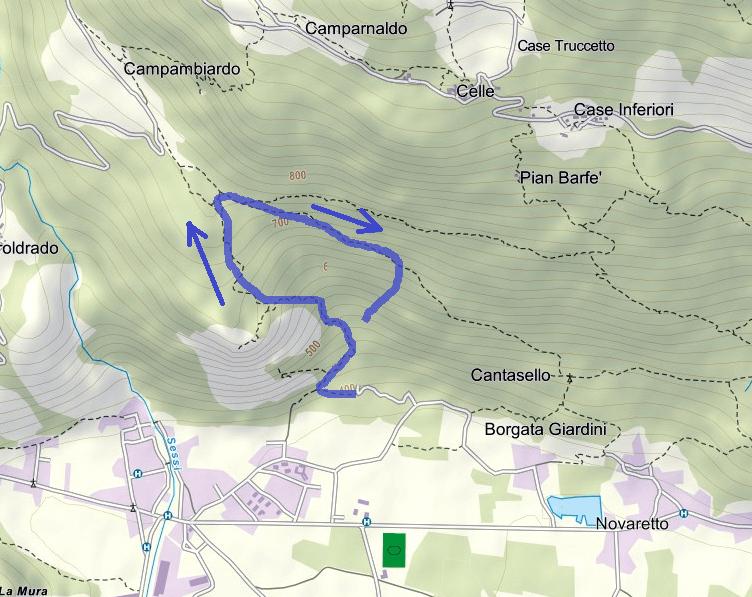 Cartina Ferrata Rocca Bianca Caprie