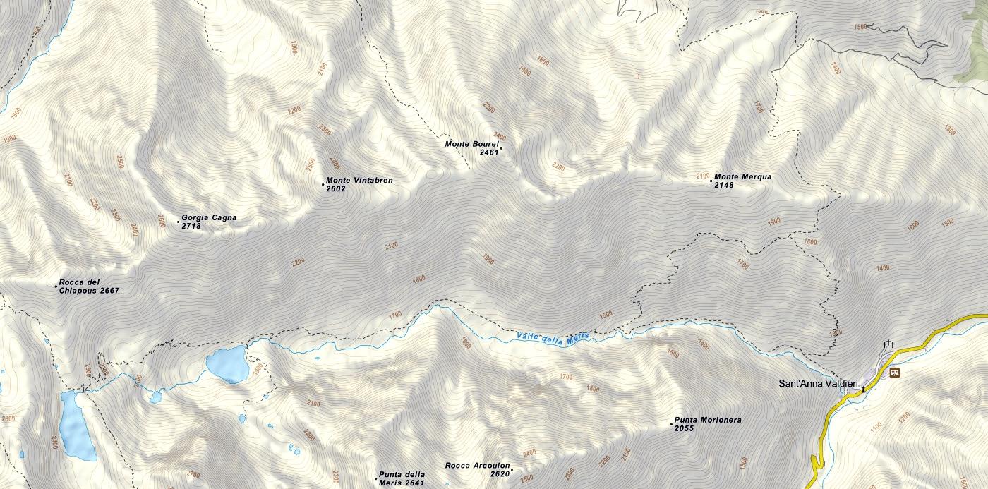 Rocca Senghi Ferrata Map