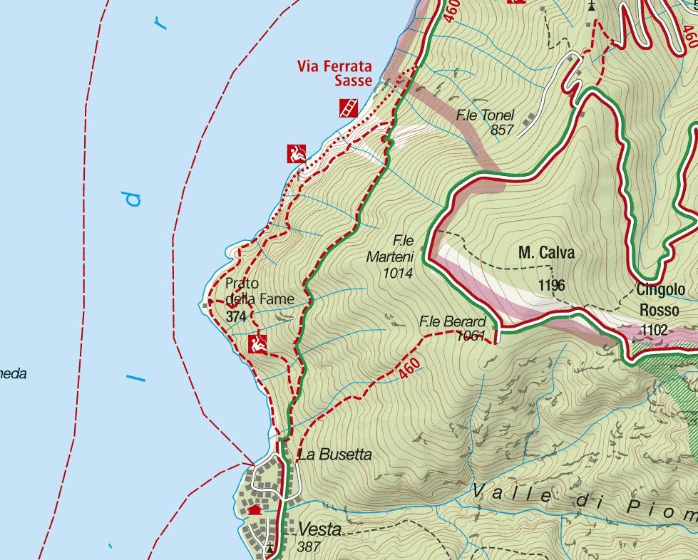 Cartina Ferrata Sasse
