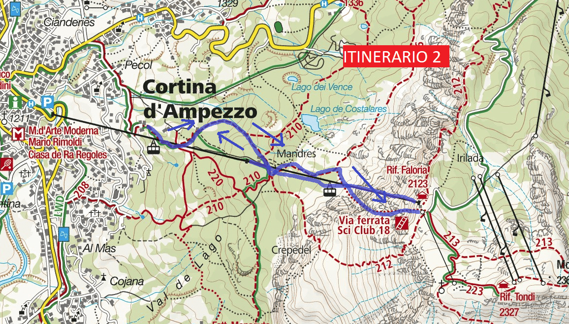 Ski Club Ferrata Map 18 Return Journey 2