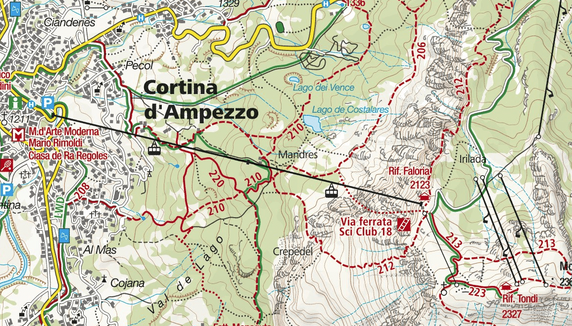 Ferrata Ski Club Map 18