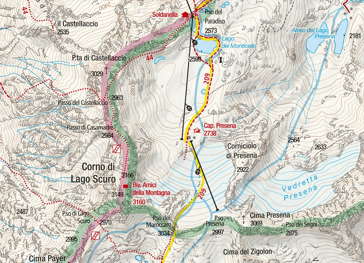 Ferrata Map Flower Trail Itinerary Detail 1 no itinerary