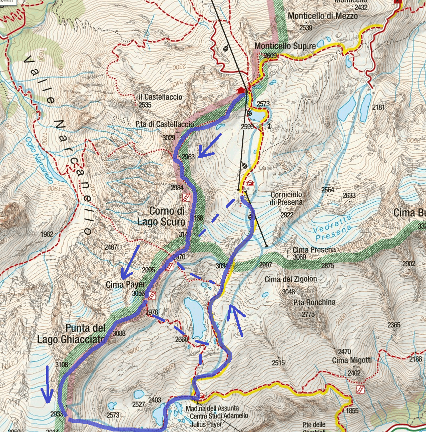 Ferrata Map Flower Trail Itinerary