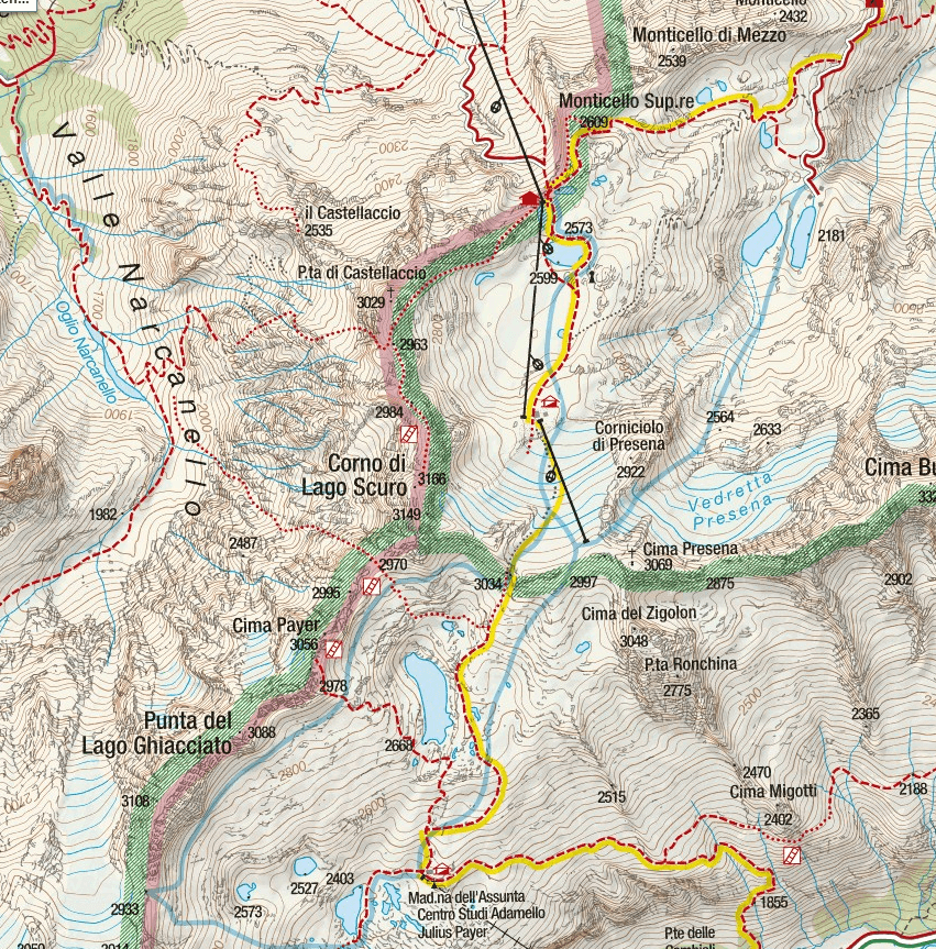 Ferrata Map Flower Trail