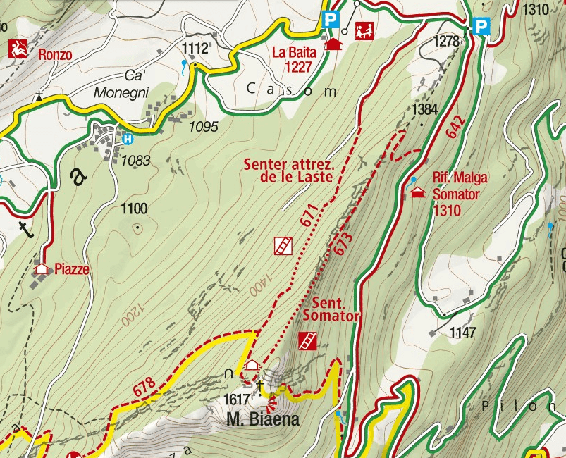 Somator Biaena Ferrata Map