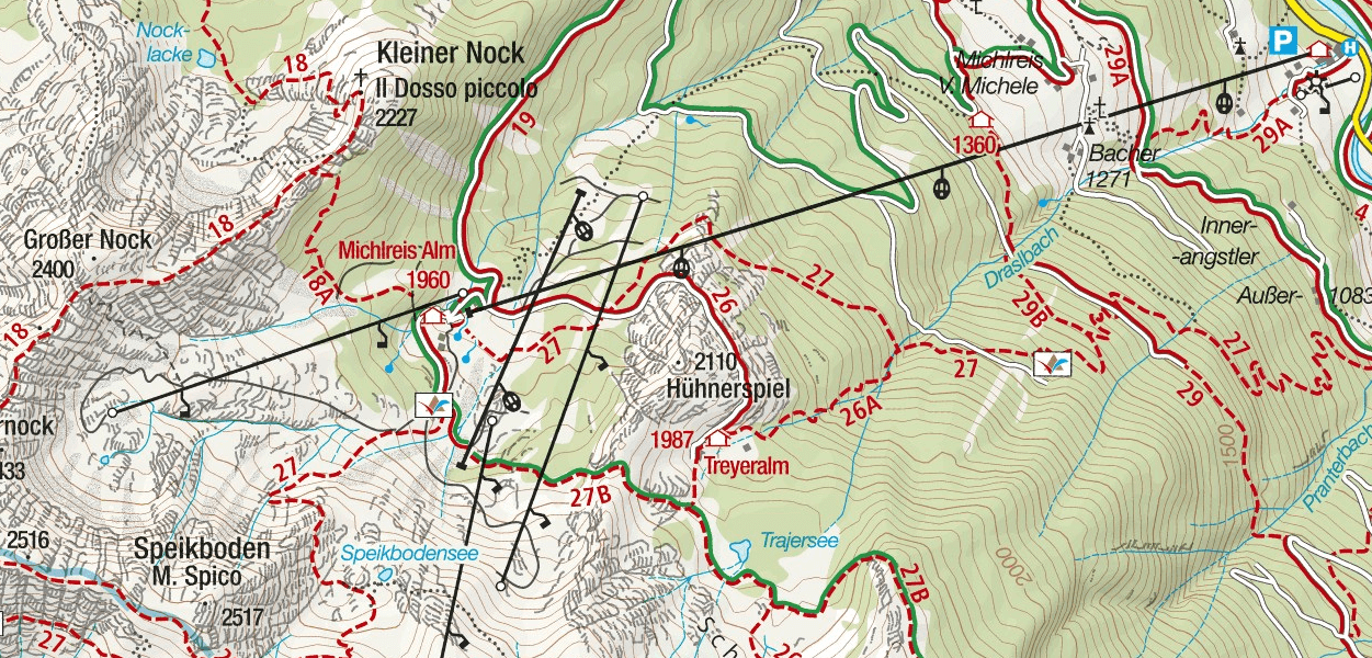 Speikeboden Ferrata map