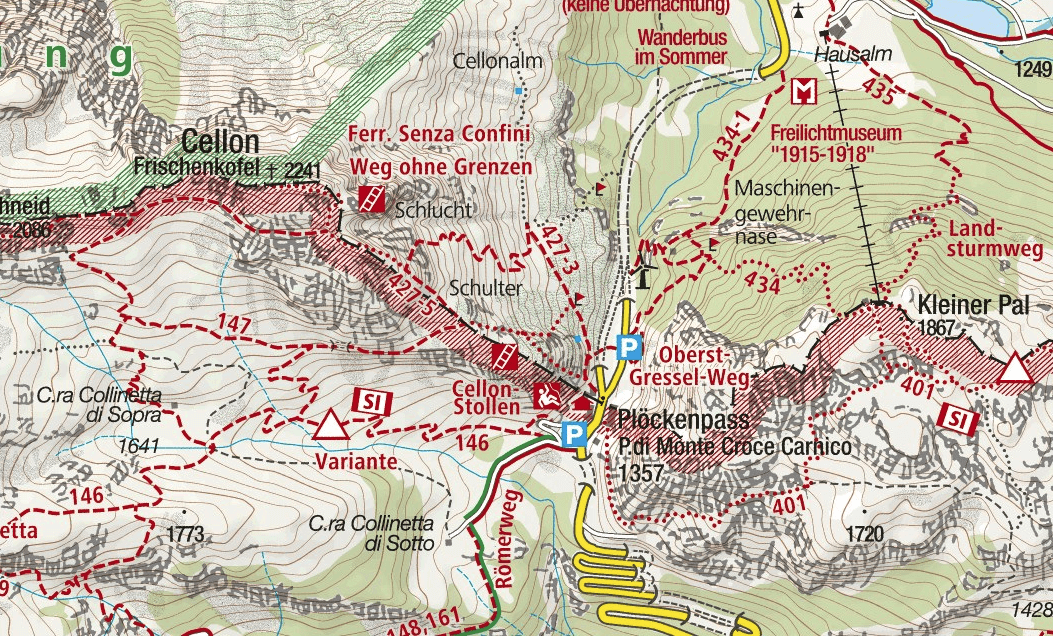 Steinbergerweg Ferrata map