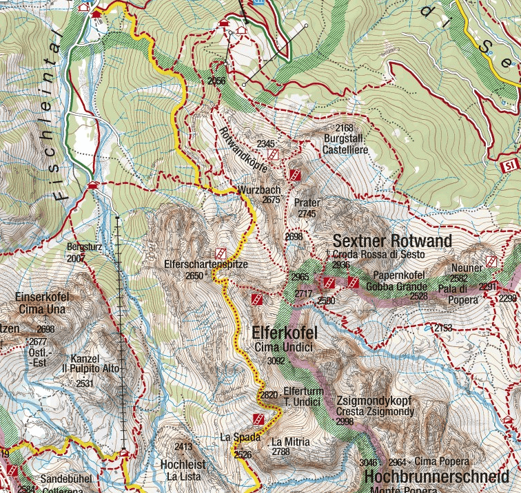 Strada Alpini Ferrata map