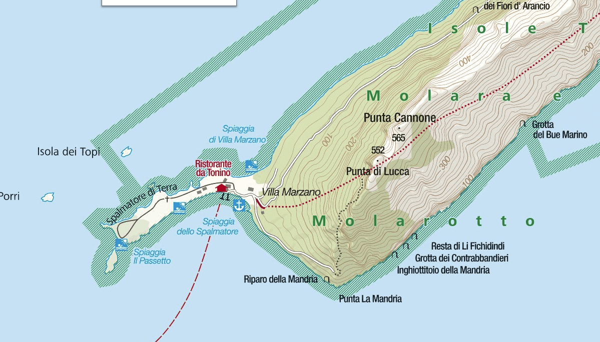 Ferrata Map Tavolara Punta Cannone