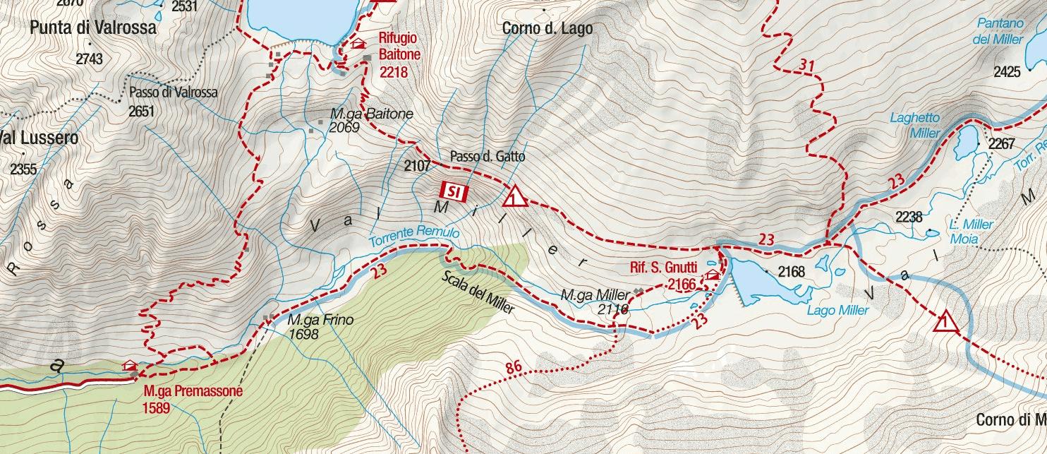 Cartina Ferrata Terzulli Dettaglio 1 Itinerario