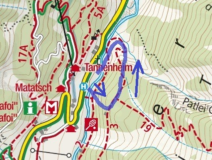 Trafoi Ferrata Route Map