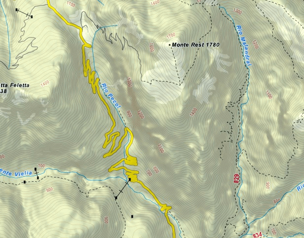 Tramuntin Ferrata map
