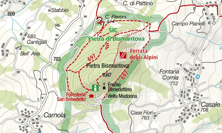 Cartina Ferrata Ultimo Sole Bismantova