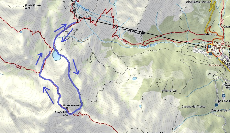 Cartina Ferrata del Limbo Itinerario