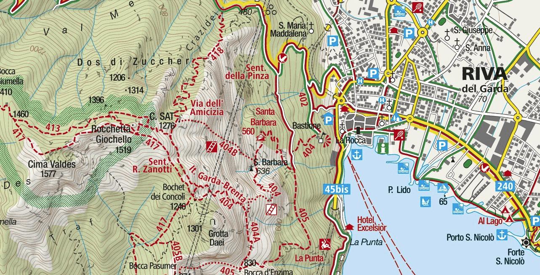 Ferrata Map of Friendship Cima Sat