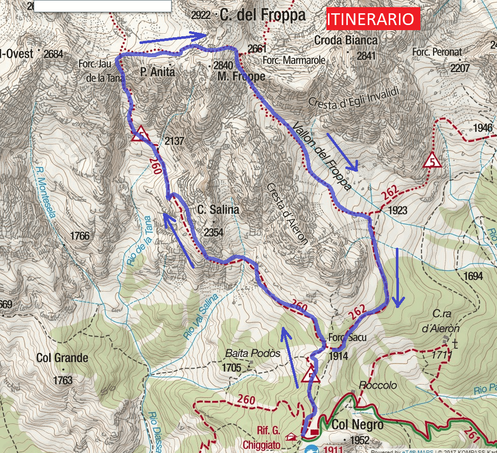 Alpine Paths Jau Tana Detail Trail Map