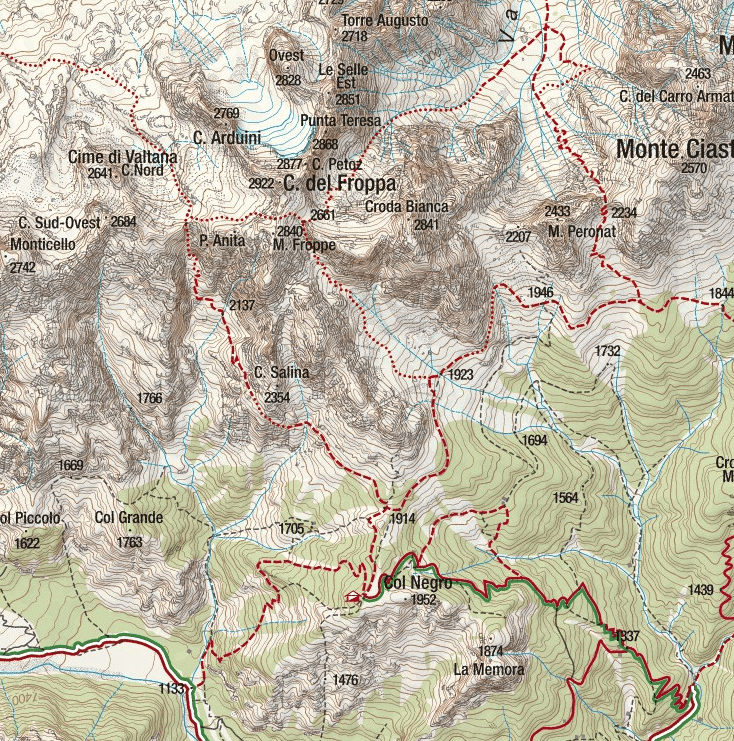 Alpine Trail Jau Tana Trail Map