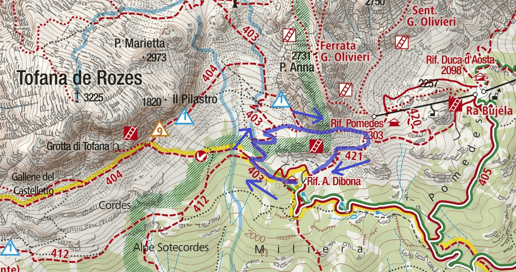 Astaldi Itinerary Route Map