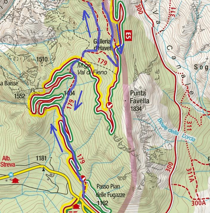 Cartina Sentiero Attrezzato Baglioni Itinerario Dettaglio 1
